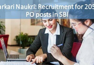 Sarkari Naukri: Recruitment for 2056 PO posts in SBI
